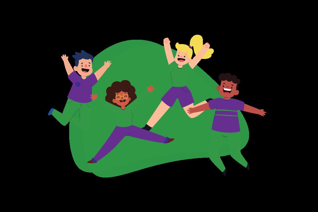 posttmoves post illustrations - jumping kids