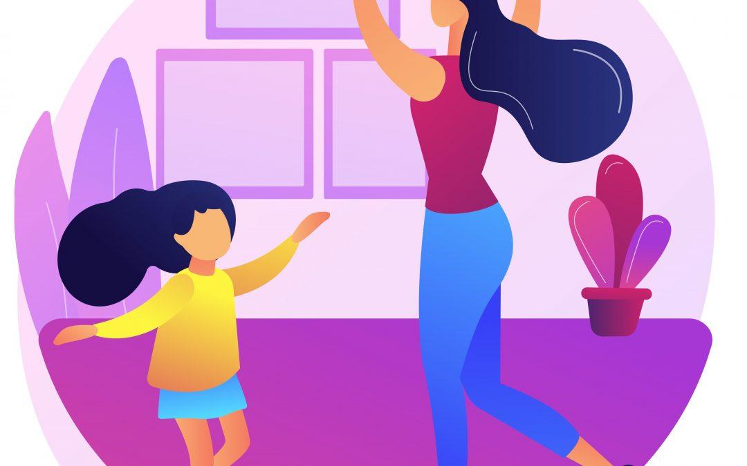 De sărbători practici dansul creativ acasă